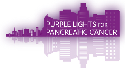 Purple Lights for Pancreatic Cancer logo