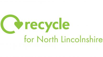 recycle for North Lincolnshire green text and logo