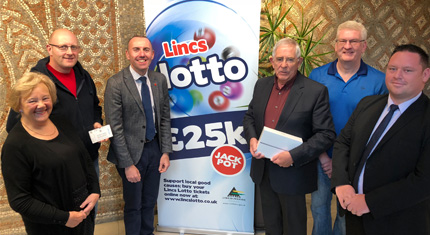 Cllrs with Lincs Lotto winners