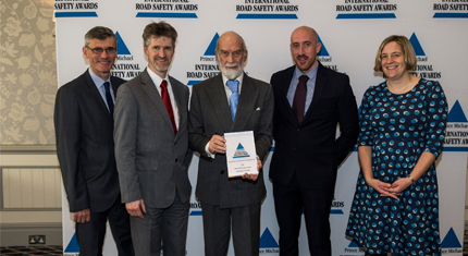 Five council staff with award