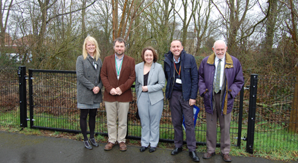 Broughton Primary school staff with Councillors