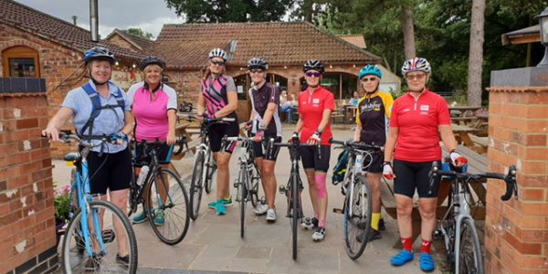 Women Breeze Champions with their bikes