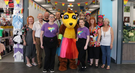 Traders celebrating Pride at St John's Market