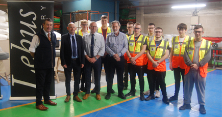 Apprentices at Lebus Upholstery in Scunthorpe