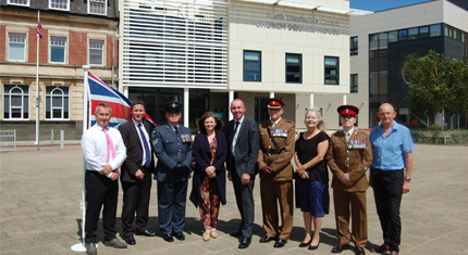 The council celebrates achieving the Silver Award for their support of the armed forces