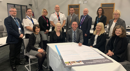 The council and partners signing the new charter