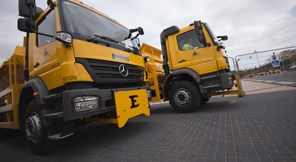 Gritters ready to go out this evening as freezing temperatures expected