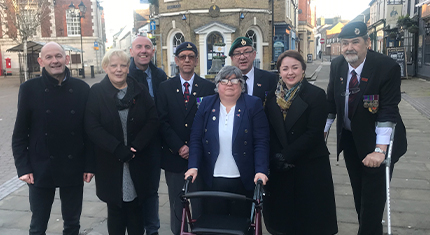 Group of people who received funding to mark VE Day 2020