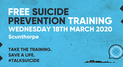 Sign up for free suicide prevention training workshops in Scunthorpe