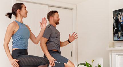 Stay active at home with virtual fitness classes