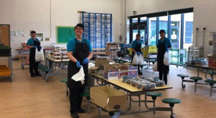 School catering staff gearing-up to provide 1.5 million school meals safely