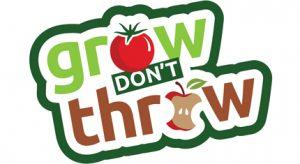 Grow don't throw logo