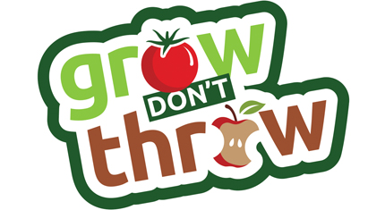 Grow don't throw logo