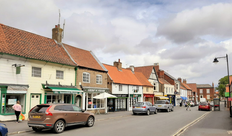 Photograph of businesses on King Street, Barton-Upon-Humber