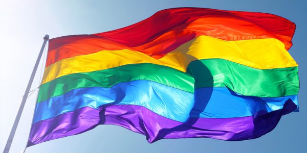 Photograph of Pride flag