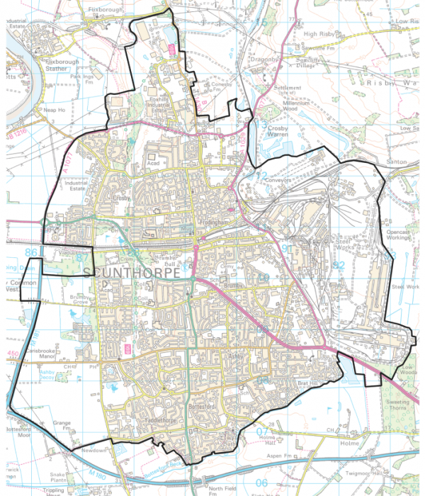 Map of Scunthorpe Town