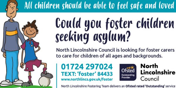 Fostering advert for asylum seeking children