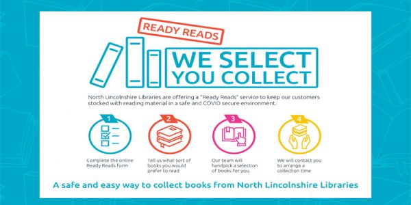 Photograph describing the Click and Collect scheme at Scunthorpe Central Library