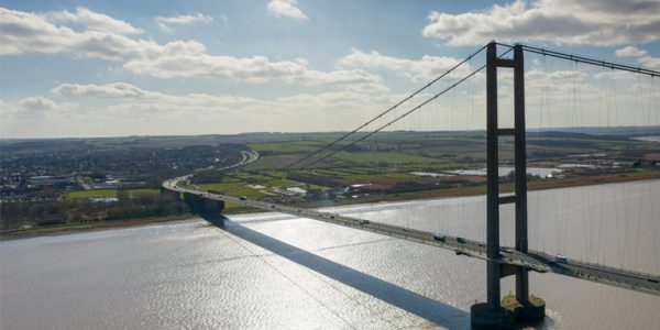 Photograph of the Humber Bridge and A15