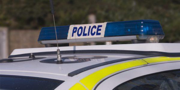 Photograph of police car lights