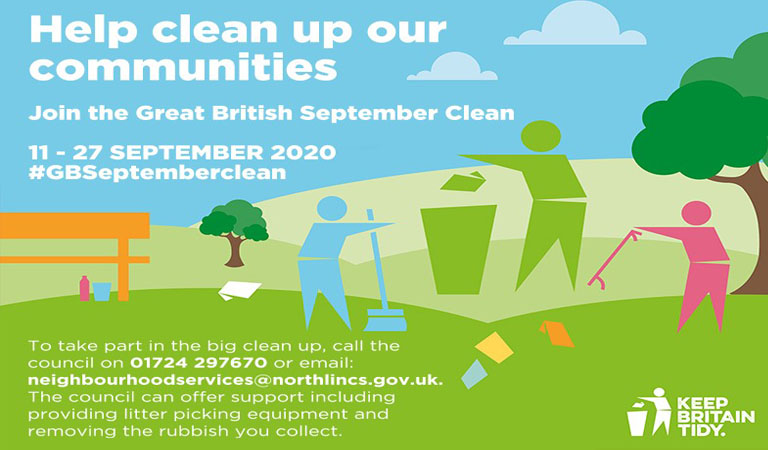 Litter heroes needed to join the Great British September Clean in North Lincolnshire
