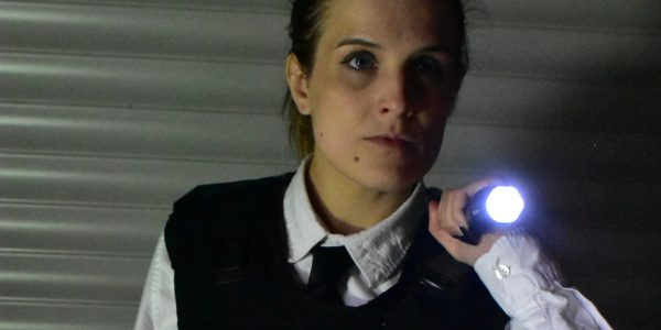 Jess Howden plays a police officer in zombie film Beginning Hour