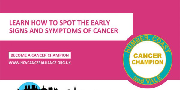Cancer Champion sessions campaign graphic