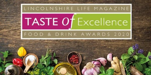 Logo for Lincolnshire Taste of Excellence Awards 2020 surrounded by herbs and spices