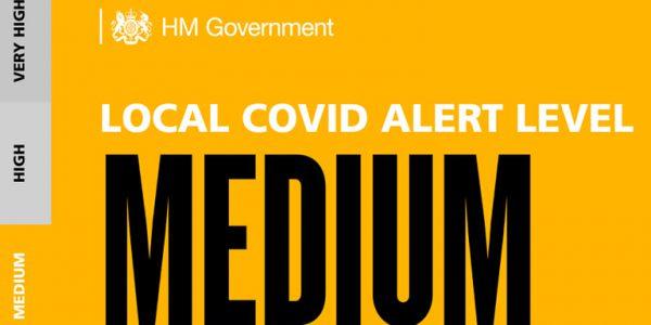 Local Covid alert level medium graphic