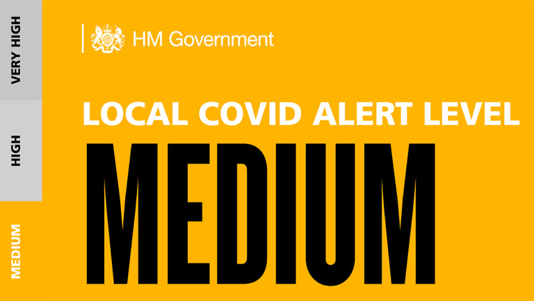 North Lincolnshire local Covid alert level is Medium