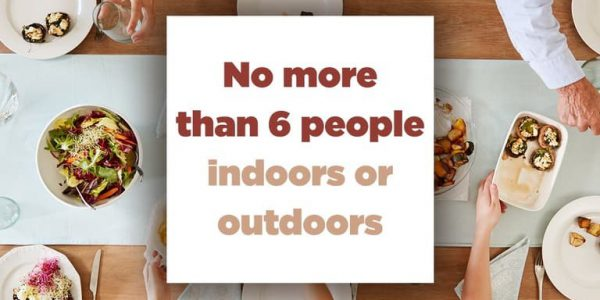 No more than 6 people indoor or outdoors image