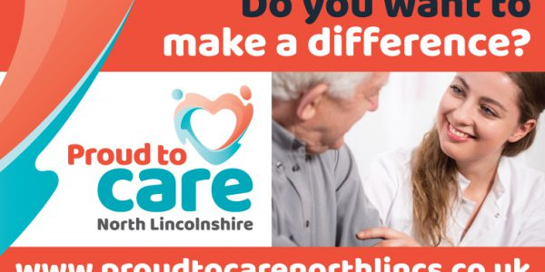Photograph of a carer advising an elderly person