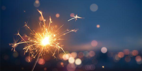 Photo of a sparkler on Bonfire Night