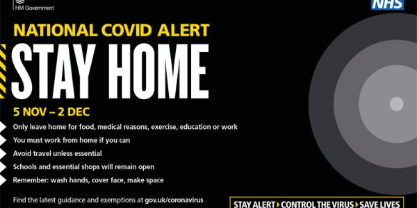 National Covid Alert stay home