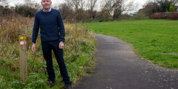Photograph of Cllr Rob Waltham on a walking route