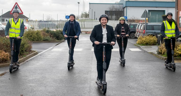 Scunthorpe hosts e-scooter trial as Government backs council's green transport revolution