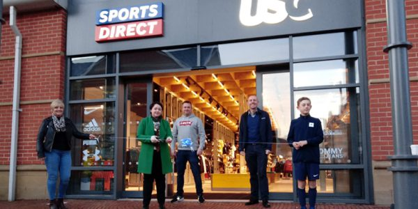 Photograph of Holly Mumby-Croft, MP for Scunthorpe, opening Scunthorpe Sports Direct store