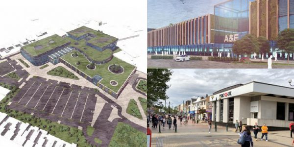 Concept art pictures of plans for Scunthorpe transformation