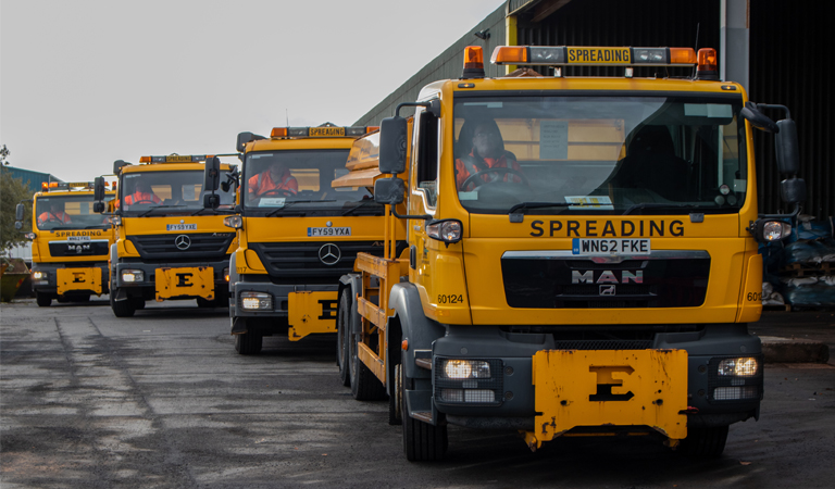 Gritters out in force as residents urged to take extra care