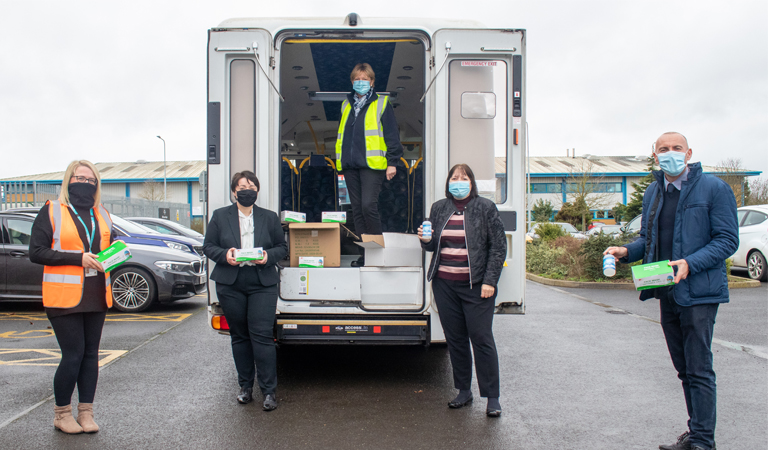 Protecting communities: 600,000 items of PPE given to those in need