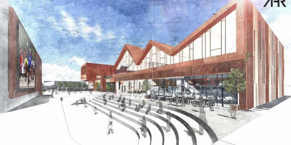 Artists' impression of new building and big outdoor screen planned for Scunthorpe centre