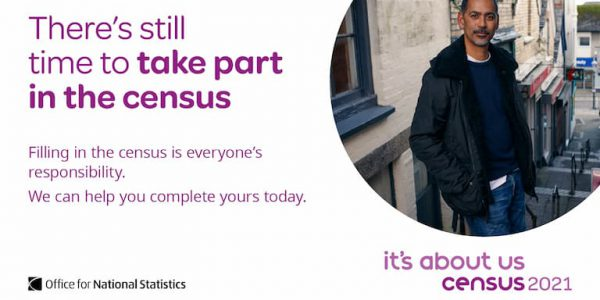 Poster saying There is still time to take part in the census