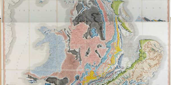 Detail from William Smith's 1815 geological map