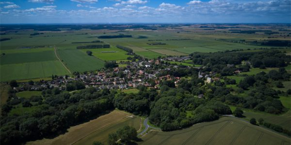 Aerial photograph of Worlaby