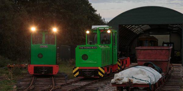 Photo of locomotives at Crowle Peatland Railway by John Tavender