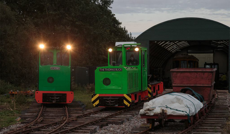 Photo of locomotives at Crowle Peatland Railway by John Tavender