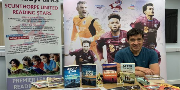 Photograph of Tom Palmer at the Scunthorpe United Reading Stars launch event