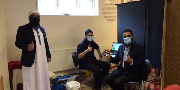 Sayful Ahmed and 2 GP's pop up vaccination centre at the Scunthorpe Islamic Centre