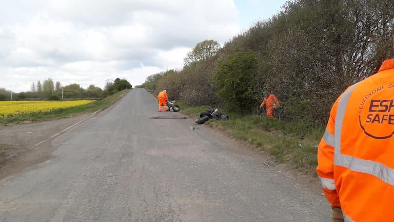 M181 contractors in local litter pick