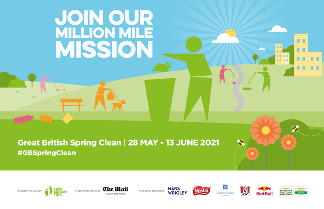Litter Heroes urged to sign up to the Great British Spring Clean